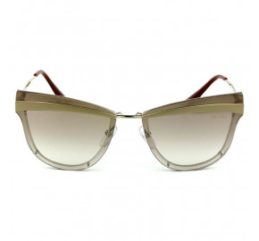 Óculos Prada SPR 12U -  Dourado/Marrom Degradê KNG-4O0 65mm - Óculos de Sol