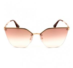 Prada SPR 68T - Dourado/Rose Degradê Semi-Espelhado SVF-AD2 63mm - Óculos de Sol