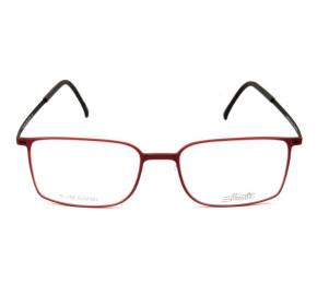 Silhouette SPX2884 -Vermelho/Preto 40 6064 52mm - Óculos de Grau