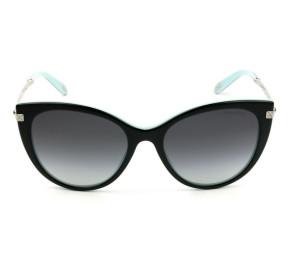Tiffany & Co TF4143-B - Óculos de Sol Preto Degradê  8055/3C Lentes 55MM