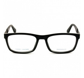 Tommy Hilfiger TH1522 - Preto Brilho/Cinza 807 54mm - Óculos de Grau