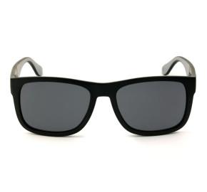Tommy Hilfiger TH1556/S - Preto Fosco/Cinza 08AIR 56mm - Óculos de Sol