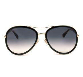 Jimmy Choo TORA/S - Preto/Cinza Degradê QBE9C 57mm - Óculos de Sol