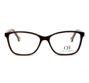 Carolina Herrera VHE 712 - Marrom/Vinho 0G73 52mm - Óculos de Grau