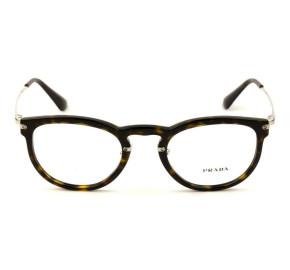 Prada VPR 02V - Turtle/Dourado 2AU-1O1 51mm - Óculos de Grau