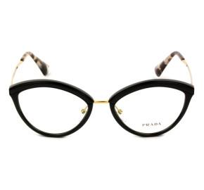 Prada VPR 14U - Preto/Dourado KUI-1O1 52mm - Óculos de Grau