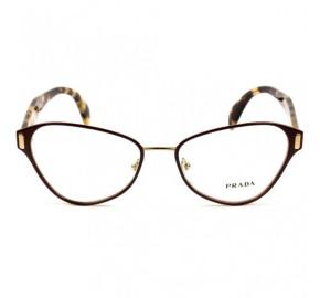 Prada VPR 58U - Vinho/Turtle TY7-1O1 53mm - Óculos de Grau