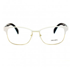 Óculos Prada VPR 65R - Branco/Dourado VIC-1O1 55mm - Óculos de Grau