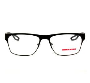 Prada Linea Rossa VPS 52G - Preto Fosco/Vermelho DG0-1O1 57mm - Oculos de Grau