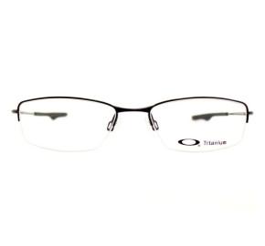 Oakley Wingback Titanium OX5089 - Preto Brilho 01 53mm - Óculos de Grau