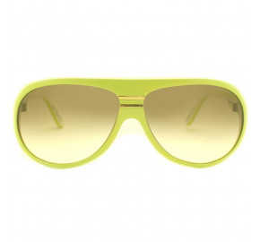 Evoke EVK 02 Ice Cream Yellow White Matte Gold Brown Gradient - Óculos de Sol
